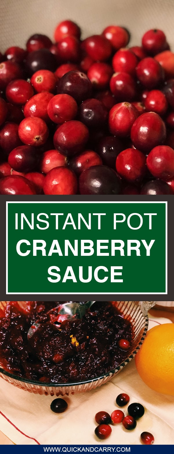 Who knew cranberry sauce could be this easy! Follow along with this amazing homemade cranberry sauce recipe for your Instant pot electric pressure cooker. It's so quick you'll wonder why you haven't been doing it this way the whole time. Perfect for your Thanksgiving table!